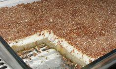 Γλυκό ψυγείου με κρέμα και φρυγανιές Low Calorie Cake, Icebox Cake, Sweet Recipes, Tiramisu, Deserts, Food And Drink, Ice Cream, Sweets, Cooking