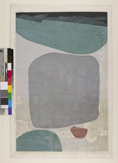 Masaji Yoshida  Silence no. 74, 1954  woodblock print