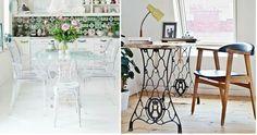 Crea un mueble con una máquina de coser antigua