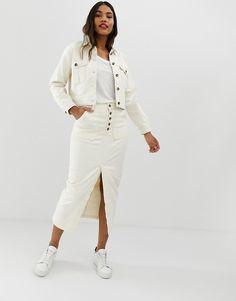 f8df3da9a658ac DESIGN DENIM Premium utility jacket in off-white