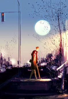 pascal campion: Early Moon