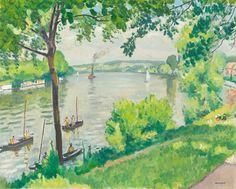 Albert Marquet, 'Berge à Triel (le remorqueur)', 1931, Richard Green Gallery   Artsy