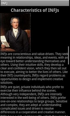 A very good look at the characteristics of an INFJ.