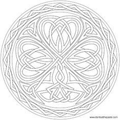 Don't Eat the Paste: Knotted Shamrock to color or embroider (jpg)