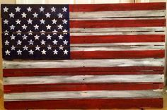 Rustic American Flag Reclaimed Wood Art W Or O Personalization