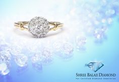 Add some sparkle to your finger with this dazzling diamond ring. 18K gold with Belgium cut diamonds.