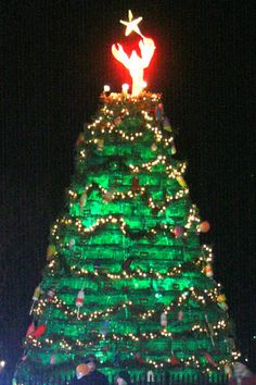 Lobstah Trap Christmas Tree, Rockland, Maine
