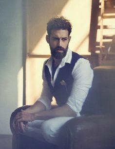 models with beards | Men With Beards | beardedmalemodels: ILIAS PETRAKIS