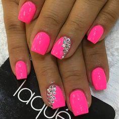 super pretty nail art designs 2016 super pretty nail art designs 2016 – style you 7 - Nail Designs Nail Art Designs 2016, Pink Nail Designs, Pretty Nail Art, Beautiful Nail Designs, Nails Design, Neon Pink Nails, Pink Nail Art, Bling Nails, My Nails