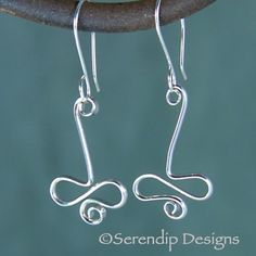 Silver Squiggle Drop Earrings