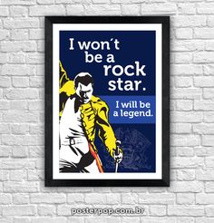 Poster Freddie Mercury Rock Legend