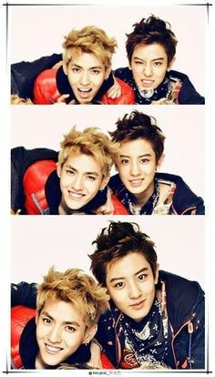 Kris & Chanyeol. Even though I ship Taoris so hard, #Cris#Krisyeol. Baekhyun and Tao are not happy with this.