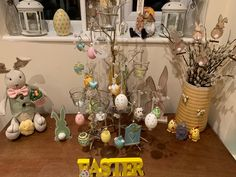 Easter tree & all things Easter Easter Tree, All Things, Display, Cards, Floor Space, Billboard, Maps, Playing Cards