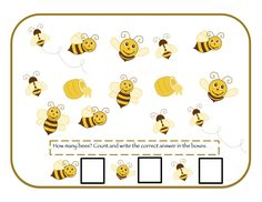 Preschool Printables: Bee & Bear Printable
