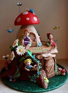 Woodland Fairy Cake - via @Craftsy