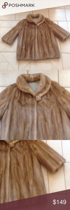 Vintage Mink Coat.      Sz M/L GREAT BUY! Describes this Vintage Mink Coat/Jacket that measures 25 inches from armpit to armpit; and is 30 inches in overall length. Jackets & Coats
