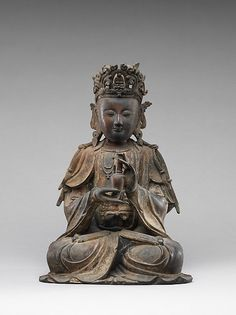 Bodhisattva Avalokiteshvar, Ming dynasty (1368–1644) Date: 15th–16th century Culture: China Medium: Leaded brass, lost-wax cast Dimensions: H. 15 1/8 in. (38.4 cm) Classification: Rogers Fund