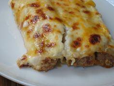 Pasta Casera, Bechamel, Oven Recipes, Spanish Food, Empanadas, Couscous, I Love Food, Lasagna, Sandwiches