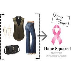 Hope Squared: Shop for a cause.  Bobi shiny top with 7 For All Mankind 'Dojo' trouser jeans & mini crossbody bag.
