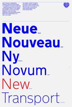 New Transport typeface by A2-Type & Margaret Calvert.