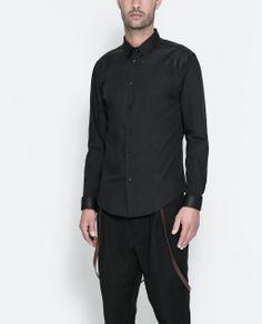 Image 1 of CONTRASTING POPLIN SHIRT from Zara