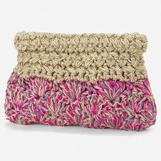"The location where building and construction meets style, beaded crochet is the act of using beads to decorate crocheted products. ""Crochet"" is derived fro Crochet Clutch Bags, Crochet Pouch, Crochet Cross, Crochet Handbags, Crochet Purses, Crochet Stitches, Knit Crochet, Crochet Bags, Tricot"