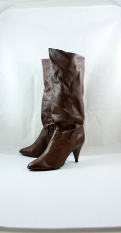 VIntage 1980's MISTEE boho slouch high heel by WindingRoadVintage, $38.00