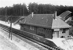 1928 Bahnhof Dreilinden,Friedhofsbahn Wannsee Stahnsdorf (1976 abgerissen)