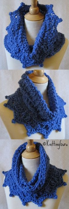 Cobalt Blue Chunky Knit & Crochet Cowl is featured in this All Cobalt Etsy Treasury: http://www.etsy.com/treasury/MjY1Njk1ODV8MjcyNTgyNzQxMA/feelin-blue-two