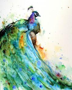 watercolor tattoos | peacock, pretty, watercolor, watercolor tattoo