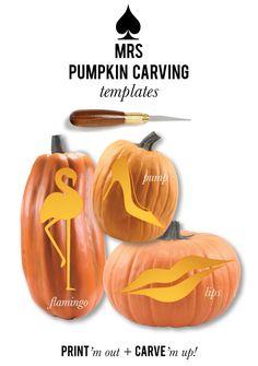 Mrs. Pumpkin Carving Templates