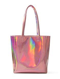 Choies Women's Hologram PU Shopper (ONESIZE, Pink)