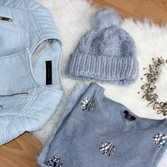 SnapWidget | Blue mood today ❄️#fashionblogger #fashion #ootd #outfit #zara #statementnecklace #sweater #beanie