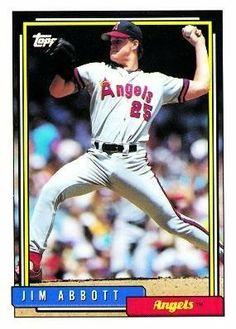 1992 Topps # 530 Jim Abbott California Angels Baseball Card by Topps. $0.87. 1992 Topps # 530 Jim Abbott California Angels Baseball Card