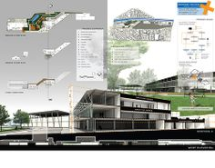 Saan Wish Vitayathanagorn  Silent pin up plate presentation  The Rescare center is a health care center that will be constructed at the Hua Lum Phong station. It has 3 stories with 15 meters high. The construction technique in this building is simple because the health care center is a non-profit organization. The building needs to answer the health care function and the hygiene system with low cost of construction. So it end up with the R.C. system and the steel structure system.