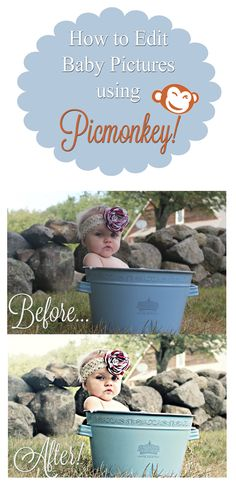 How to Edit Baby Pictures Like a Pro Using Picmonkey {FREE photo editing software!}
