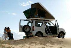 Roof top tent for Jimny Jimny Suzuki, 4x4 Off Road, Roof Top Tent, Cute Cars, Small Cars, Future Car, Van Life, Caravan, Rooftop
