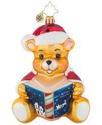 Christopher Radko Tall Tales Teddy Ornament, Created for Macy's