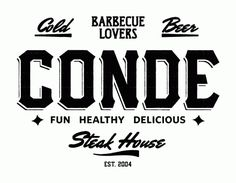 Conde Steak House #typography