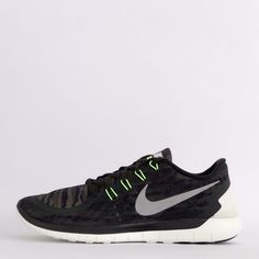 Nike Free 5.0 Print 2015 Print Mens Running Trainers Active Shoes Sneakers Green…