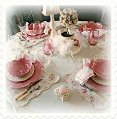 Valentines tablescape.