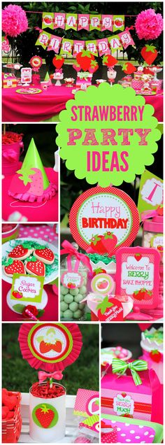So many incredible details at this Strawberry Shortcake party! See more party ideas at CatchMyParty.com!