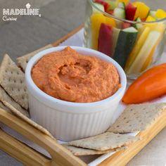 Humus cu ardei copti / Roasted red pepper hummus