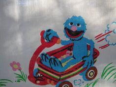 Vintage Sesame Street Curtain Panels by NopalitoVintageMore, $25.00