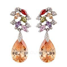 Beautiful Alloy/Cubic Zirconia Ladies' Earrings (011036330)