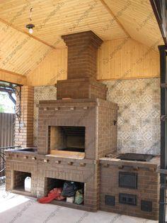 Комплекс барбекю, плита для казана 12 литров / Complex BBQ, stove for cousin 12 liters