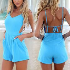 Sexy Women Celeb V-neck Backless Playsuit Summer Beach Jumpsuit Party Shorts Backless Playsuit, Short Playsuit, Short Jumpsuit, Jumpsuit Shorts, Sexy Shorts, Rompers Women, Jumpsuits For Women, Women's Rompers, Outfit Grid