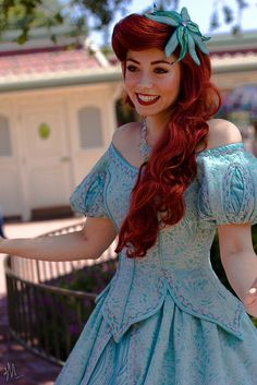 New Ariel, I am pretty sure.  Not a huge change.  Sleeves just go to the sides.  But I thought they were ditching the dress for the fins.  Oh well.