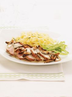 Ricardo& Recipe : Pork Tenderloins with Mushroom Sauce Food Dishes, Main Dishes, Pork Recipes, Cooking Recipes, Ricardo Recipe, Mushroom Sauce, Your Recipe, Food To Make, Stuffed Mushrooms