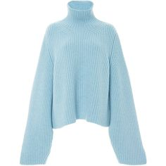 Designer Clothes, Shoes & Bags for Women Oversized Tops, Oversized Sweaters, Blue Sweaters, Rainbow Sweater, Only Fashion, Workout Tops, Blue Tops, Polyvore Fashion, Turtle Neck